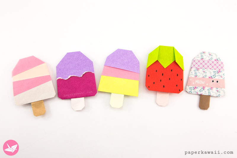 Origami Ice Cream Cone Instructions - Modular via @paper_kawaii