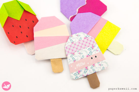 Origami Popsicle Tutorial – Origami Ice Lolly