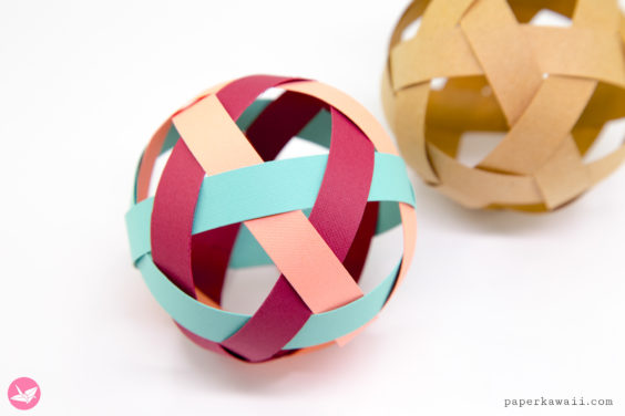 Easy Woven Paper Ball Decoration Tutorial