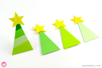 Simple Origami Christmas Tree Tutorial
