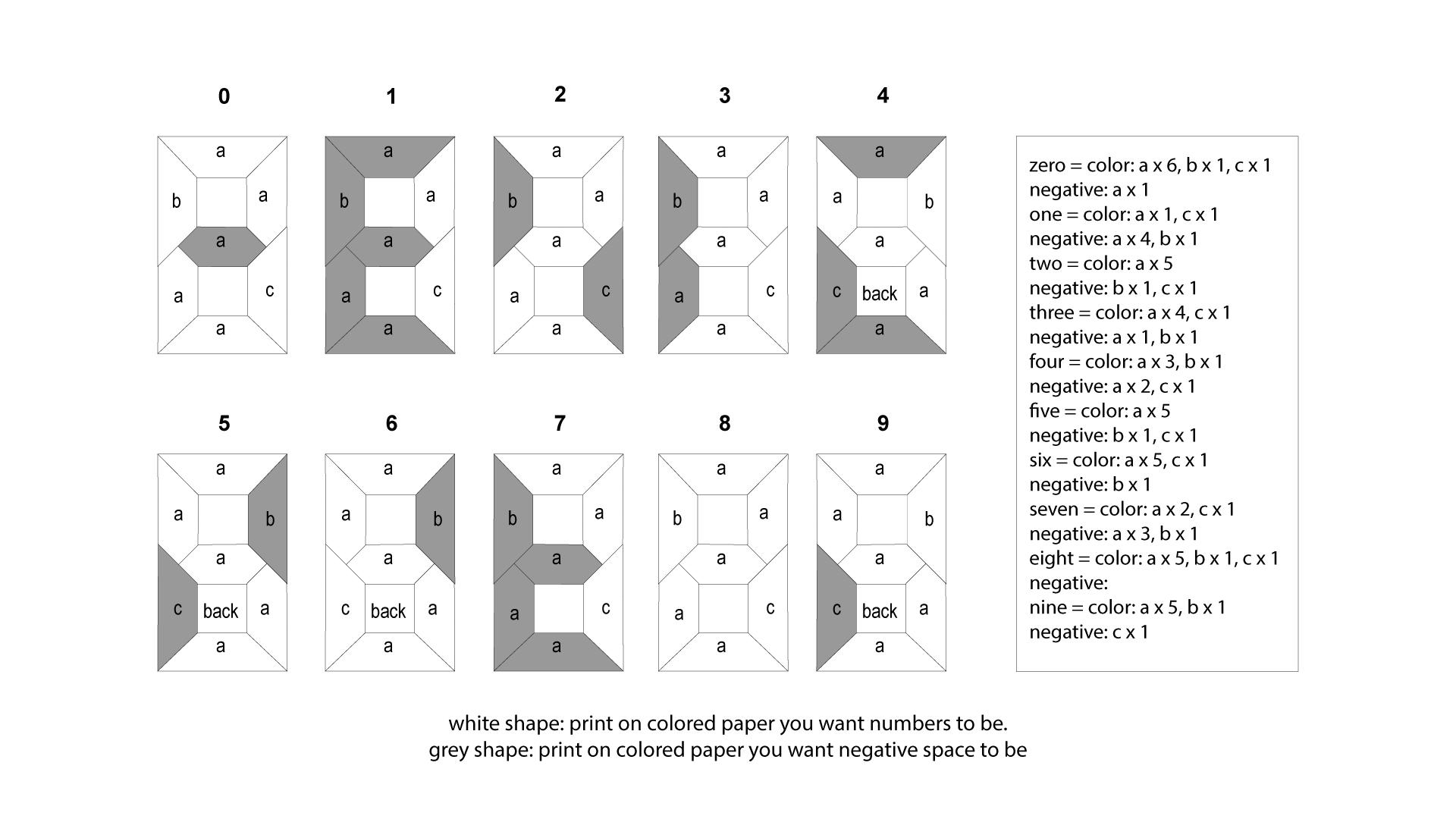 3D Origami Numbers Tutorial - 2019 Happy New Year! - Paper Kawaii