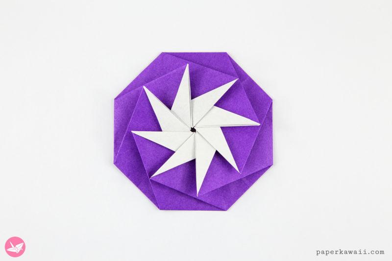 Origami Compass Star Tato Variation Tutorial via @paper_kawaii
