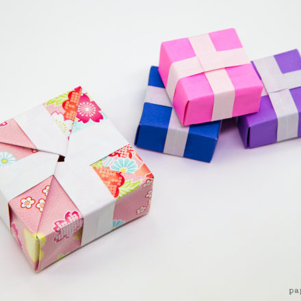Triangular Origami Box Tutorial - Gift Box via @paper_kawaii