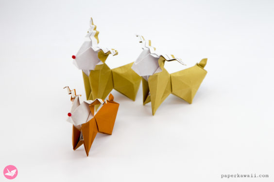Origami Reindeer Tutorial – Make a cute paper Rudolf!