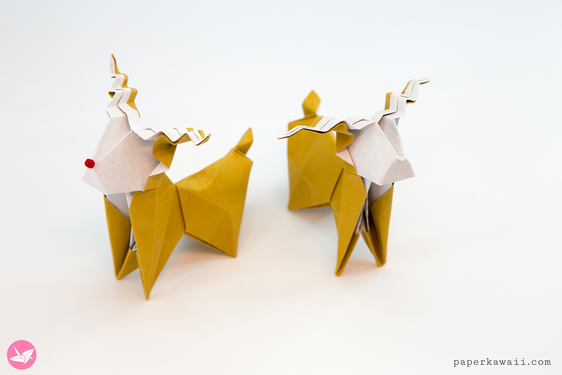 Origami Reindeer Tutorial - Make a cute paper Rudolf! via @paper_kawaii