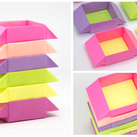 Origami Pop-Up Picture Frame Boxes Tutorial via @paper_kawaii