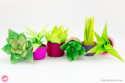Mini Origami Succulent Plants Tutorial