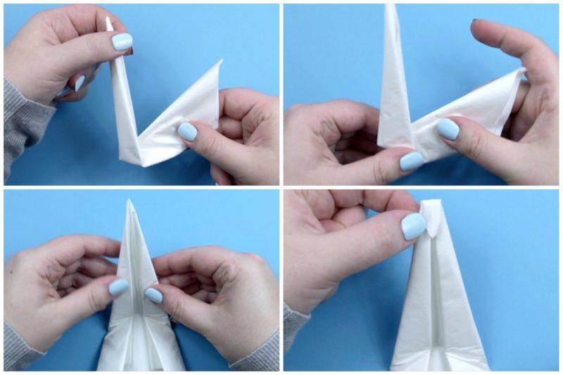 Swan Napkin Fold   Fancy napkin folding, Napkin folding, Paper ...   533x800
