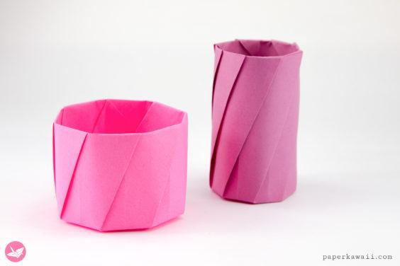 Round Origami Pots Tutorial