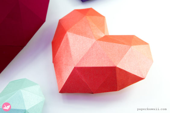 3D Paper Heart – Tutorial & Template