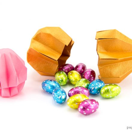 Origami Egg Tutorial for Easter via @paper_kawaii
