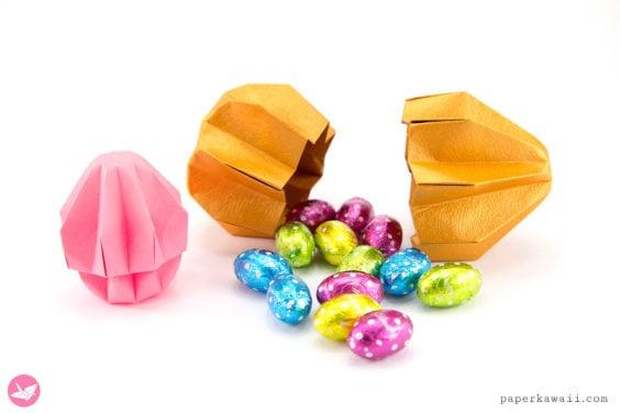 Origami Easter Egg Gift Box Tutorial